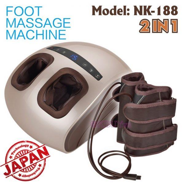 Máy massage Nhật Bản 2 trong 1 điều trị được nhiều căn bệnh khác nhau